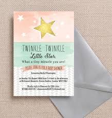 twinkle twinkle baby shower twinkle baby shower invitation from 0 80 each