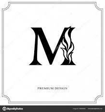 name style design elegant letter m graceful royal style calligraphic beautiful
