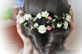 wedding hair flowers flower hair garland bridal flower crown wedding hair flowers