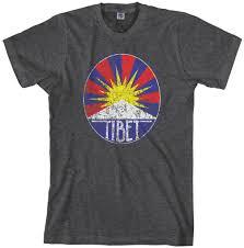 Lion Flag Threadrock Men U0027s Tibetan Flag T Shirt Tibet Snow Lion Ebay
