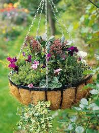 flower baskets make a hanging basket hgtv