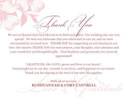 thank you card for wedding gift best wedding thank you card inspiration weddingood