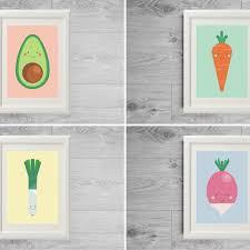 affiches cuisine affiches légumes cuisine posters légumes mignons set affiches
