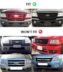 front grill ford ranger fits 06 11 ford ranger black billet grille combo insert ebay