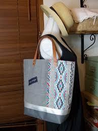 sac cabas lin sac cabas ethnique aux p u0027tits doigts d u0027hélène