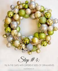 livelovediy how to make a christmas ornament wreath christmas ideas