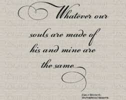wedding quotes emily bronte wuthering heights fabric etsy