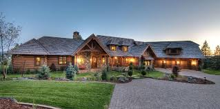 ranch style log home floor plans handcrafted square log dovetail home hewn finish built