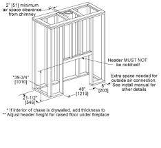Standard Fireplace Dimensions by Royal Hearth Wood Fireplace Heat U0026 Glo