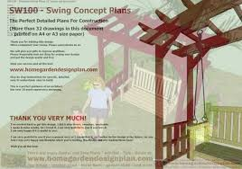 Free Woodworking Plans Outdoor Chairs by Sw100 U2013 Arbor Swing Woodworking Plans U2013 Outdoor Furniture Plans