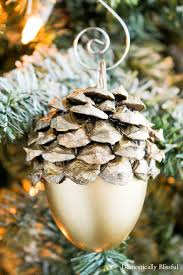 faux acorn tree ornaments