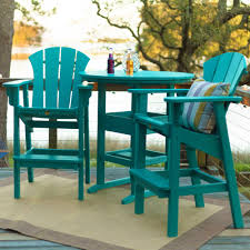 Teal Dining Chairs by Shop Durawood Sunrise High Dining Chairs On Sale