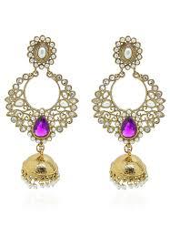 style of earrings studded jhumka style earrings jrl432