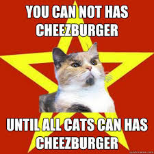 I Can Has Cheezburger Meme - you can not has cheezburger until all cats can has cheezburger