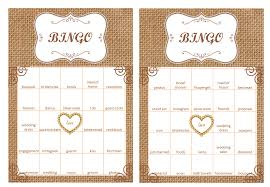wedding words for bingo 40 bridal shower bingo cards prefilled with bridal shower