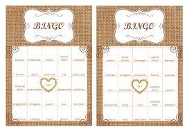 wedding words for bingo 40 bridal shower bingo cards prefilled with bridal shower