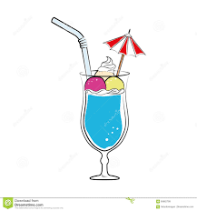 mixed drink clip art silhouette color with cocktail drink with fruits and straw and