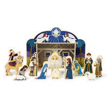 wooden nativity set christmas nativity set