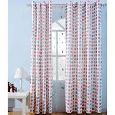 Polka Dot Curtains Colorful Polka Dots Print Cotton Curtains