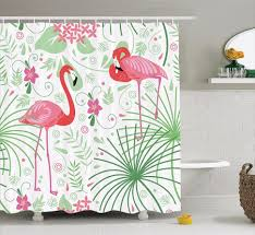 Flamingo Shower Curtains Coffee Tables Pink Flamingo Shower Curtain Hooks Pink Shower