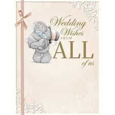 wedding wishes online wedding wishes from all of us large me to you card a01ls116