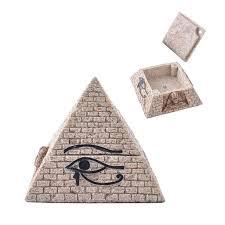 sandstone landscape pyramid style storage box resin