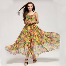 fashion trends scoop neck sleeveless long bohemian plus size