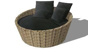 canap sketchup canapé rond st tropez noir maisons du monde réf 130 503 prix 599