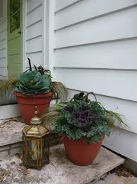 a thanksgiving time of year designing domesticity front porch planters thanksgiving bling