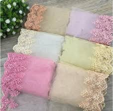 Rs Handmade - 5yards lot tiara gold mesh material embroidery lace trim diy