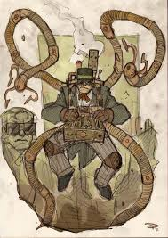 steampunk spider man and his nemesis victorian era doctor octopus