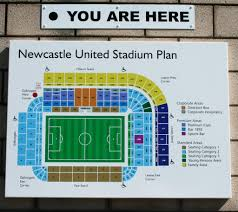 st james park for nufc related this sign has been very recently been positioned at various locations around the ground