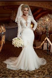 trumpet wedding dresses wedding dresses mermaid lace 2017 luxury pearls trumpet wedding