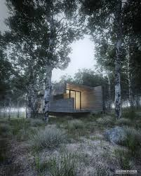 forest render making of house in the forest 3d architectural visualization