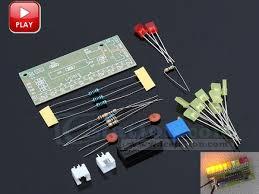 electronic components led lights audio level indicator yellow red led lights diy kits module