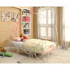 girls princess carriage bed furniture of america cm7705 enchant metal bed the mine