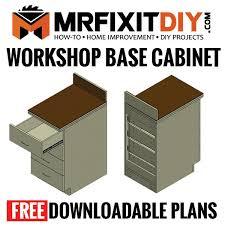 kitchen base cabinet plans free free diy workshop base cabinet plans mr fix it diy