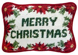 christmas needlepoint merry christmas needlepoint pillow traditions