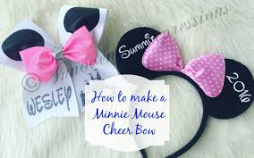 how to make a minnie mouse bow with fondant 28 images diy