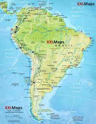 Map Of Colombia South America by Physical Map Of South America Free Download For Smartphones