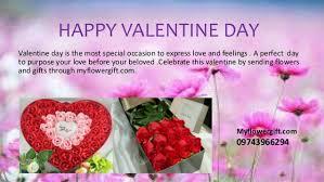 Valentines Day Flowers Send Valentine U0027s Day Flowers To India Myflowergift