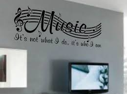 Music Note Decor Music Is Not Vinyl Wall Quote Word Decal Dance Musical Notes Room