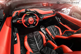 ferrari custom interior carlex design finishes ferrari 458 spider project