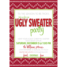 ugly sweater party invite eco holiday cards hazmat suit halloween