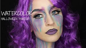 watercolor halloween makeup tutorial youtube