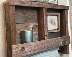 Reclaimed Wood Bathroom Wood Bathroom Shelf Etsy