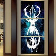 Wall Decor Canvas Best Harry Potter Canvas Paintings Products On Wanelo
