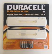 wireless under cabinet lighting duracell wireless motion activated led under cabinet lights 2 pk