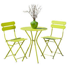 Yellow Bistro Chairs Yellow Outdoor Table And Chairs Dayri Me