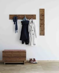 coat rack wall mounted coat rack contemporary wooden